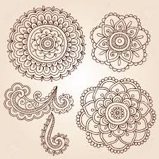 henna mehndi flower doodles abstract floral paisley design