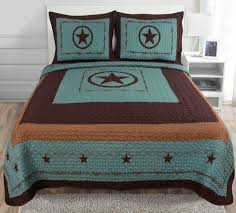 Quilt Comforter Set Amazon Com 3 Piece Western Lone Star Barb Wire Cabin Lodge