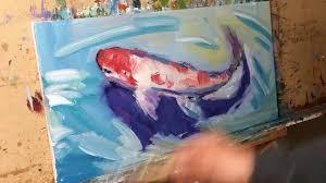 koi pond fish impressionist oil painting demo artist jose trujillo