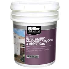 Home Depot Paint Matching by Behr Premium 5 Gal Elastomeric Masonry Stucco And Brick Paint