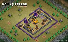 clash of clan defeat the rolling terror with th7 troops clash of clans land