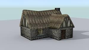 medieval farm house 2 3d asset cgtrader
