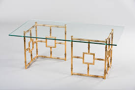 glass and metal coffee table gold uk 20t century modern at 1s thippo