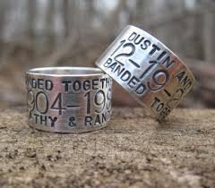 duck band wedding rings custom goose duck band ring sterling silver personalized