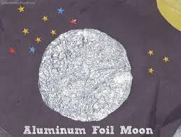 aluminum foil moon sensory craft mommy u0027s bundle