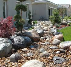 landscape creek bed dry creek bed landscaping rock in the