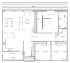 One Story House Plans With 4 Bedrooms Best 25 Small House Layout Ideas On Pinterest Small House Floor