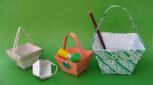 Baskets For Gifts How To Make A Beautiful Paper Basket For Gifts Fruits Flowers
