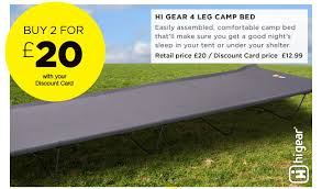 Hi Gear Folding C Bed Go Outdoors New Wow Deals Including Hi Gear Oasis Family Tent For
