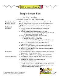 conjunctions worksheet packet and lesson plan teacherlingo com