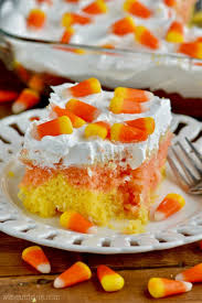 candy corn poke cake wine u0026 glue