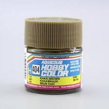 hobby gsi h404 khaki brown flat 10ml gunze aqueous hobby color