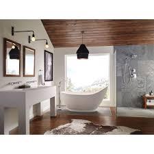 delta tesla 1 handle floor mount roman tub faucet with handshower