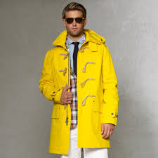 rlx ralph lauren waterproof toggle coat in yellow for men lyst
