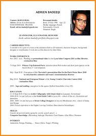 sample resume for painter 4 example of cv in english resume setups 4 example of cv in english