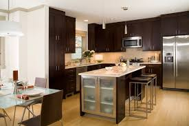 furniture pretty wooden kitchen armstrong cabinets in dark with