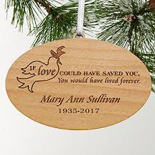 personalized memorial ornament forever loved