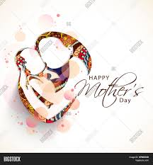 Mother S Day Designs Creative Sketch Of A Mom With Her Child On Floral Design For Happy