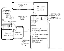 charming house plans with 4 car garage 3 pv4 buckhm plan gif