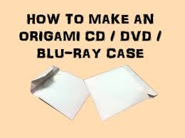 Origami Cd Cover - how to make an origami cd dvd bluray