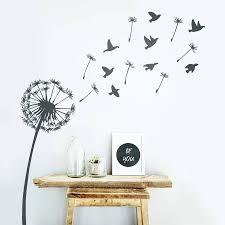 dandelion wall sticker by oakdene designs notonthehighstreet com wall stickers
