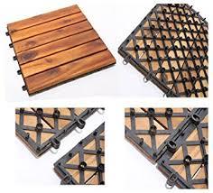balkon fliesen holz holz fliesen akazienholz 3x4er set balkonfliesen 12 platten