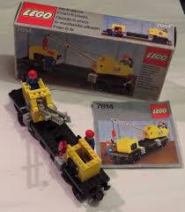 lego train 7814 crane wagon 100 complete box instructions