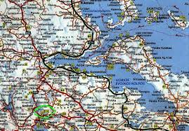 Map Of Ancient Greece Road Map To Ancient And Todays Delphi Greece