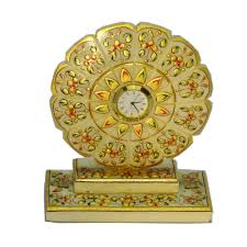 floral carved marble showpiece with small watch in center deals