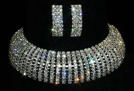 rhinestone choker collar necklace images Rhinestone necklaces collars and chokers wholesale gif