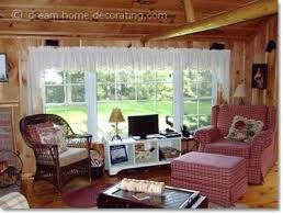 Cabin Style Curtains Country Cabin Decor A Log Cabin In Canada Cabin Decor Curtains Log