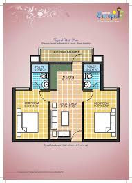 Grand Connaught Rooms Floor Plan by Omaxe Europia Flats In Bhiwadi