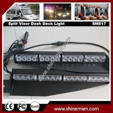 Led Emergency Dash Lights 2x16led 32w Visor Emergency Led Warning Flash Split Mount Deck