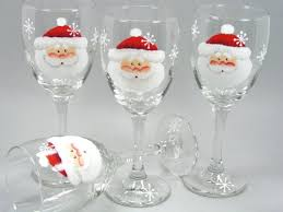 10 painted wine glass for