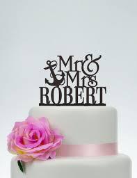 anchor wedding cake topper wedding cake topper anchor cake topper mr and mrs cake topper with