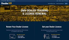 6 hours class online dmv dealer license renewal dealer 101