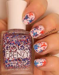 fourth of july nail art with sally hansen be happy and buy polish