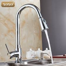 single handle pull out kitchen faucet xoxo kitchen faucets silver single handle pull out kitchen tap