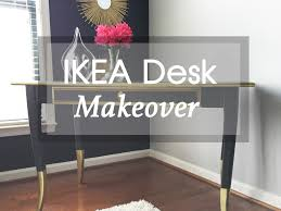 tresha demonstrates how to makeover your ikea leksvik desk with