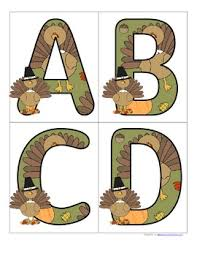 free this is a set of large alphabet letters with a thanksgiving