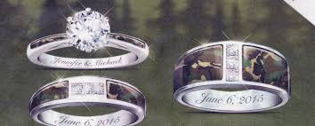 camo wedding rings his and hers camo wedding ring sets his and hers several ideas of his and hers