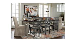 crate and barrel farmhouse table pranzo ii vamelie extension dining table reviews crate and barrel