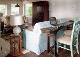 Narrow Sofa Table A Long Narrow Table Behind The Sofa Changes A Passageway Into