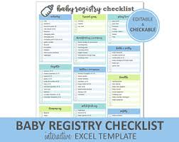 bridal registry checklist printable hospital bag packing list printable and editable excel