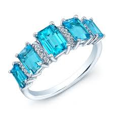 topaz gemstone rings images 5 stone swiss blue topaz ring gemstone rings gemstone jewelry jpg