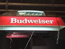 budweiser pool table light with horses vintage budweiser red hanging pool table light with clydesdale