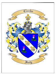 coat of arms family crest in large print poster