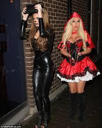 Catsuit Halloween Costumes Towie U0027s Sam Faiers Billi Mucklow Swap Spooky