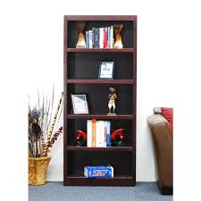 alaterre furniture mission cherry open bookcase amia1460 the