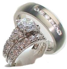 cheap his and hers wedding rings 3 wedding ring set his hers wedding corners